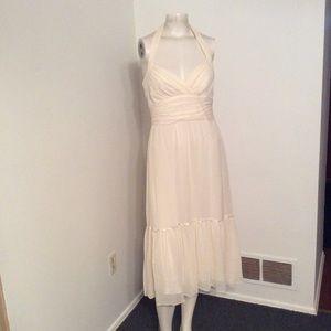 BCBG Silk Boho Halter Dress 4